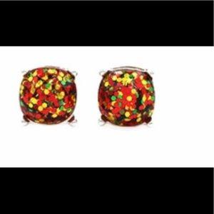 Kate spade ♠️ multi color glitter stud earrings